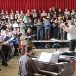 Chorprobe mit Christoph Schönherr