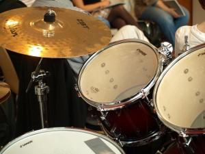 Nahaufnahme eines Schlagzeugs