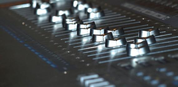 Aufnahmepult im Tonstudio