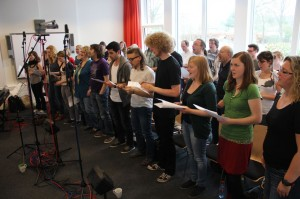 Chor im Tonstudio